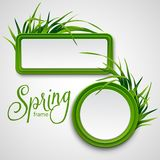 Spring frame with grass. Vector illustration. EPS 10 Royalty Free Stock Photos