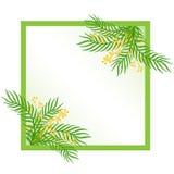 Spring frame made up of leaves. Spring frame made up of green leaves royalty free illustration