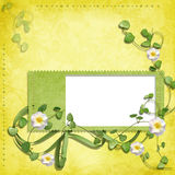 Spring frame on shabby background Royalty Free Stock Photography