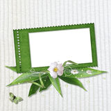 Spring frame with stamp-frames Royalty Free Stock Photo