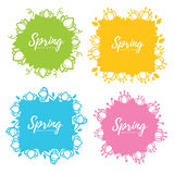 Spring frames Royalty Free Stock Photo