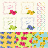 Spring frames. Spring and summer frames with floral pattern royalty free illustration