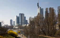 Spring in Frankfurt Stock Image