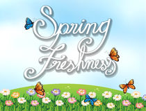 A spring freshness template Royalty Free Stock Photo