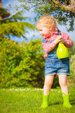 Spring fun and cute little girl smiling Royalty Free Stock Image