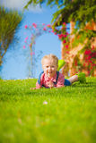 Spring fun and cute little girl smiling Stock Photography