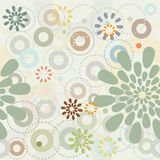 Spring Garden. Abstract flowers - seamless pattern Stock Photo