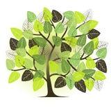 Spring garden - abstract tree. 2d vector Stock Photo
