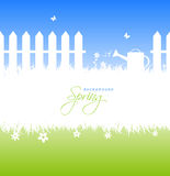 Spring garden background with copyspace Stock Image