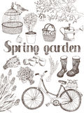 Spring garden card Stock Photo