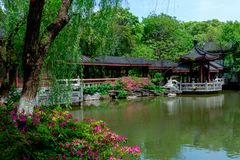 Spring Garden-Classical Gardens of Suzhou. Suzhou classical gardens, known as Suzhou gardens, are world cultural heritage, national AAAAA level tourist stock image