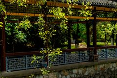 Spring Garden-Classical Gardens of Suzhou. Suzhou classical gardens, known as Suzhou gardens, are world cultural heritage, national AAAAA level tourist royalty free stock images