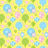 Spring garden decorative seamless background Stock Photos