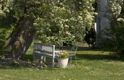 Spring garden furniture Royalty Free Stock Images