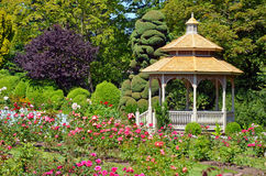 Spring garden gazebo royalty free stock images