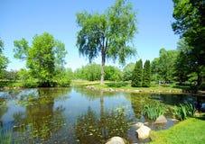 Spring garden landscape royalty free stock photos
