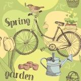 Spring garden pattern Stock Image