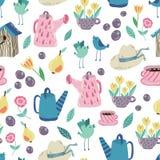 Spring Garden seamless  pattern Royalty Free Stock Images