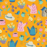 Spring Garden seamless  pattern Stock Photos