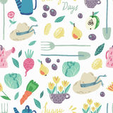 Spring Garden seamless  pattern Stock Photo