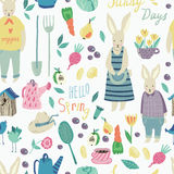 Spring Garden seamless  pattern. Royalty Free Stock Photo