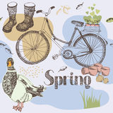 Spring garden seamless pattern Stock Photography