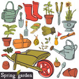 Spring garden set Royalty Free Stock Image
