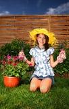 Spring gardening Stock Image