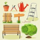 Spring gardening. Garden icon set Stock Image