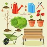 Spring gardening. Garden icon set Royalty Free Stock Image