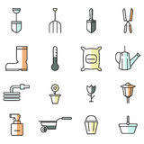 Spring Gardening icons Royalty Free Stock Photography