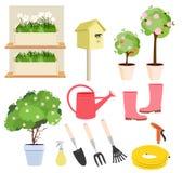 Spring gardening set Stock Photos
