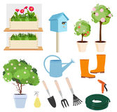 Spring gardening set Stock Images