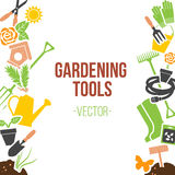 Spring Gardening Tools Set, Vector Illustration Stock Photography