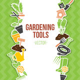 Spring Gardening Tools Set, Vector Illustration Stock Photos