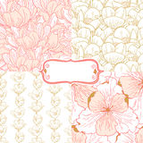 Spring gentle pattern Royalty Free Stock Images