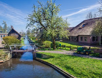 Spring in Giethoorn, the Netherlands Royalty Free Stock Photo
