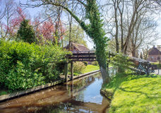 Spring in Giethoorn, the Netherlands Stock Images