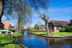 Spring in Giethoorn, the Netherlands stock photography