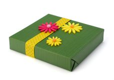 Free Spring Gift With Flower Decoration Stock Images - 18696934
