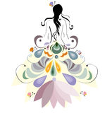 Spring girl. Illustration, spring girl beautiful design element Stock Photography