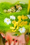Spring girl. Spring portrait of forest dryad royalty free stock photos