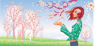 Spring girl Stock Images