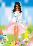 Spring girl dress Stock Photography