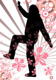 Spring girl silhouette Royalty Free Stock Images