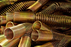 Spring gold for hydraulic. Royalty Free Stock Photos