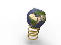 Spring Gold Planet Earth Royalty Free Stock Photos