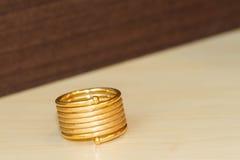 Spring gold ring Stock Photos