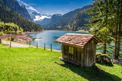 Spring in Gosausee lake in Gosau, Alps, Austria. Europe Royalty Free Stock Images