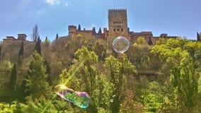 Spring in Granada, Alhambra stock image